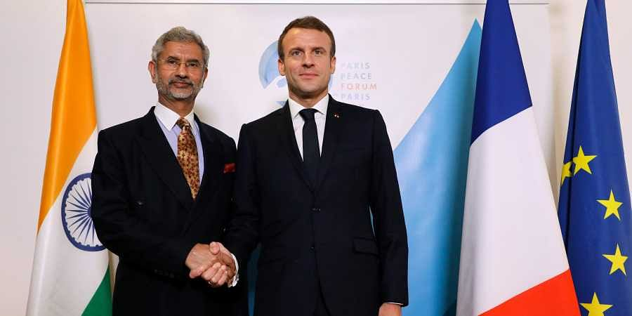 Jaishankar Meets French President Macron In Paris Discusses Strategic Issues The New Indian Express