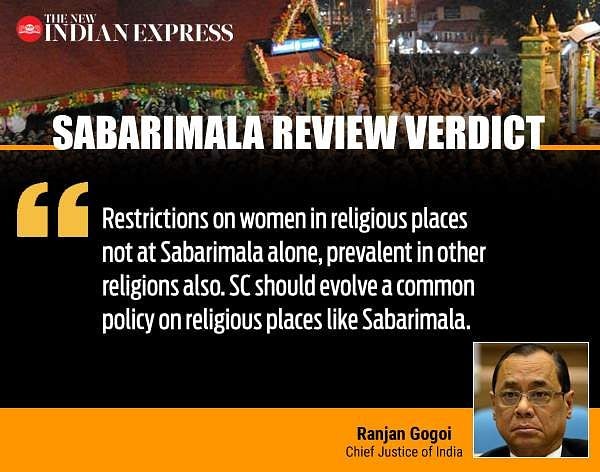 Sabarimala Review Verdict: CJI Quote