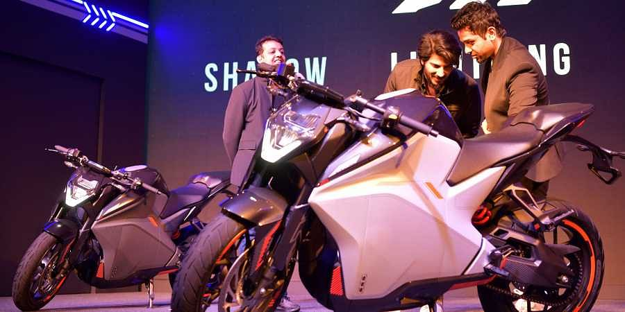 Ultraviolette Automotive unveils the F77 - India's first high performance electric motorcycle at The Lalit Ashok Bengaluru on Wednesday