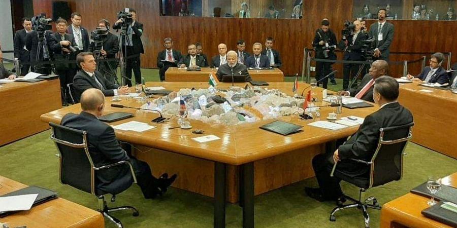 Prime Minister Narendra Modi raised the issue of terrorism at the 11th BRICS Summit.