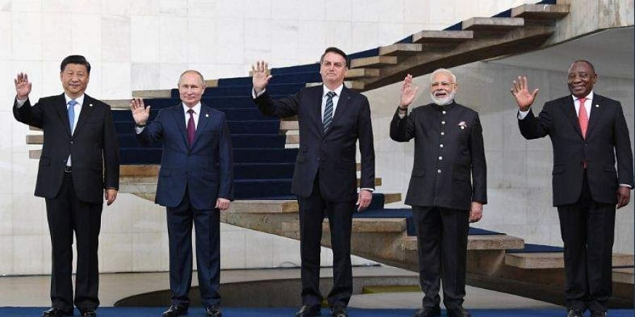 Ahead of the summit, the BRICS leaders came together for a joint picture.