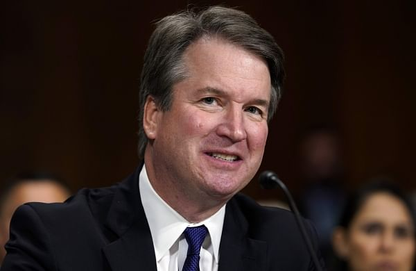 Disgraced US Supreme Court Justice Brett Kavanaugh avoids controversy in first major appearance