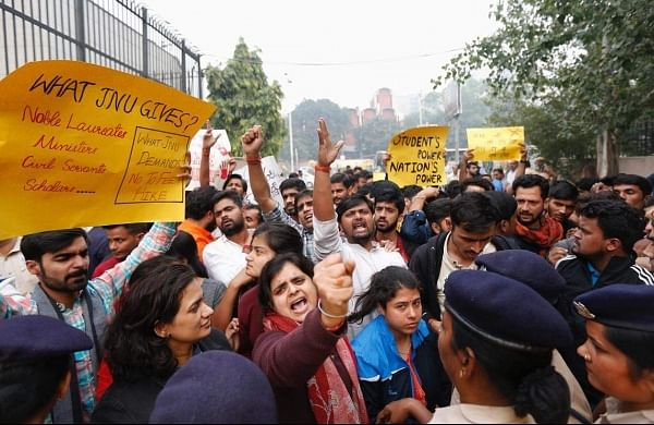 JNU files complaint over'vandalism'at administration block