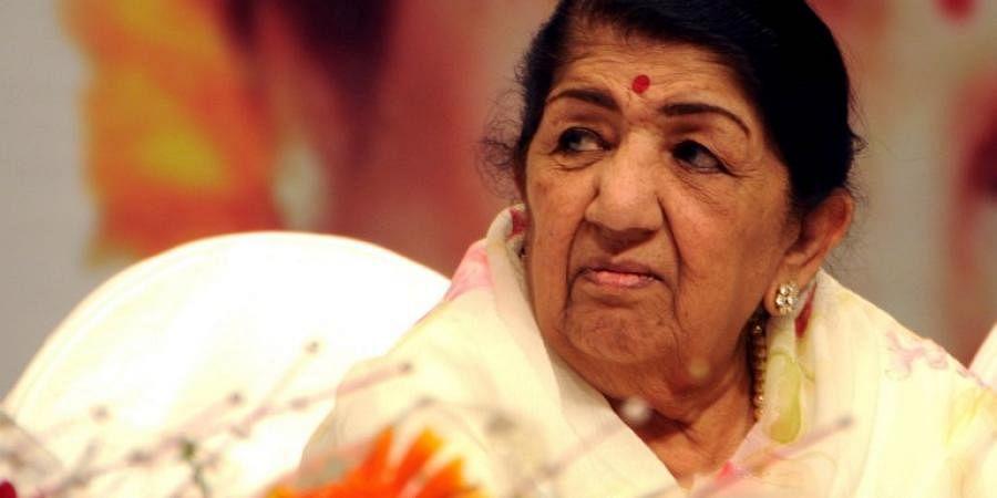 Indian playback singer Lata Mangeshkar.