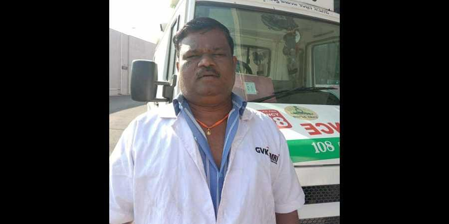 Eeranna Angadi, the driver, received a call from 108 helpline on wee hours of Wednesday and rushed to the spot.