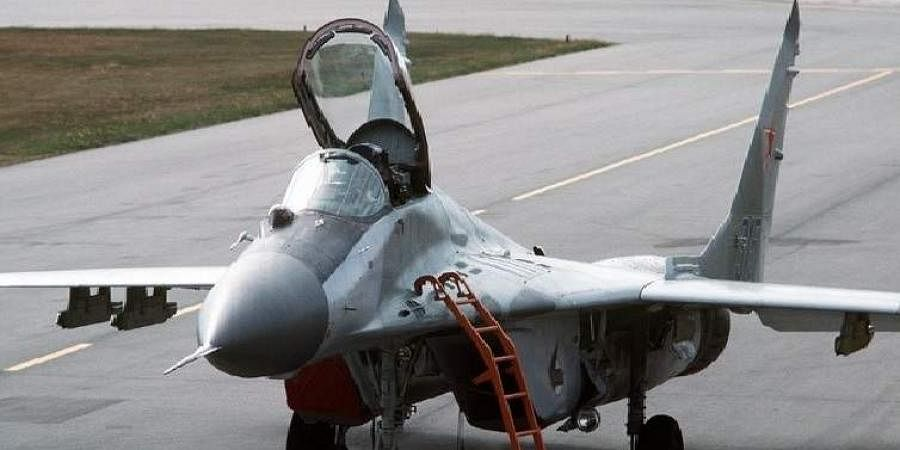 A MiG-29 fighter plane