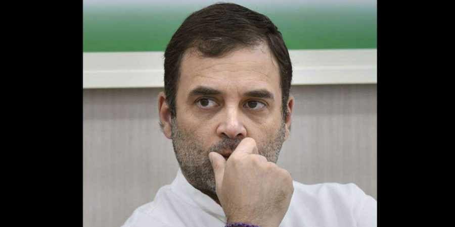 Former Congress president Rahul Gandhi