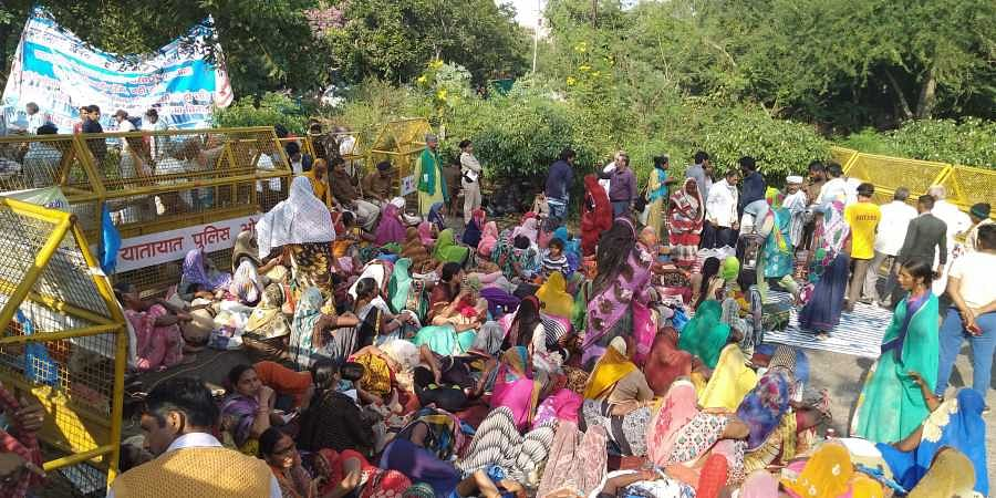 Over 1500 peoplefrom 178 submerged villages near the Sardar Sarovar Dam marched to Bhopal in demand for rehabilitation and compensation.