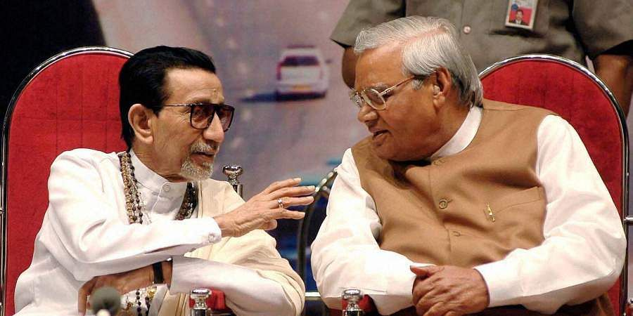 Then Shiv Sena chief Bal Thackeray with former PM Atal Bihari Vajpayee during a book release function.