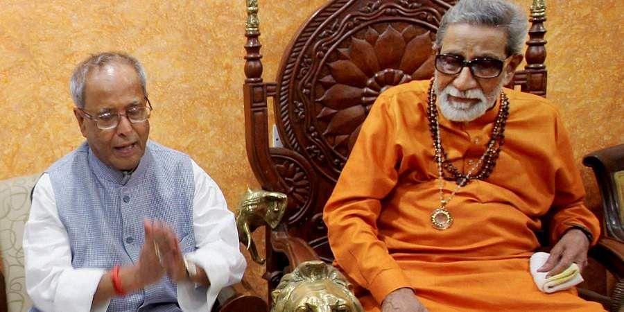Then Shiv Sena chief Bal Thackeray with President Pranab Mukherjee.
