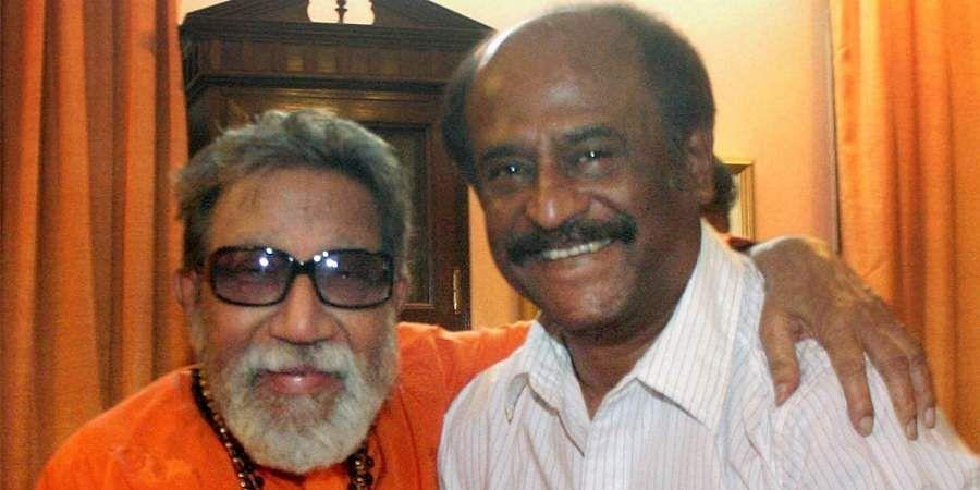 Then Shiv Sena chief Bal Thackeray along with Kollywood actor Rajinikanth.