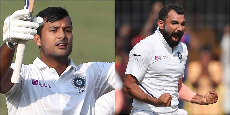 Mayank Agarwal (L) and Mohammed Shami. | (File | AP)