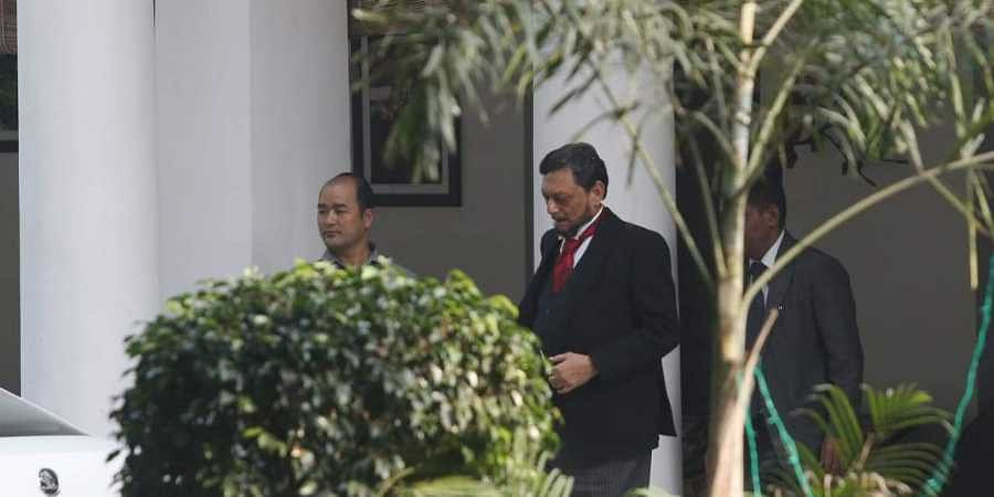Designate CJI Sharad Arvind Bobde leaving for his swearing-in-ceremony at the President house, from his New Delhi residence on Monday.