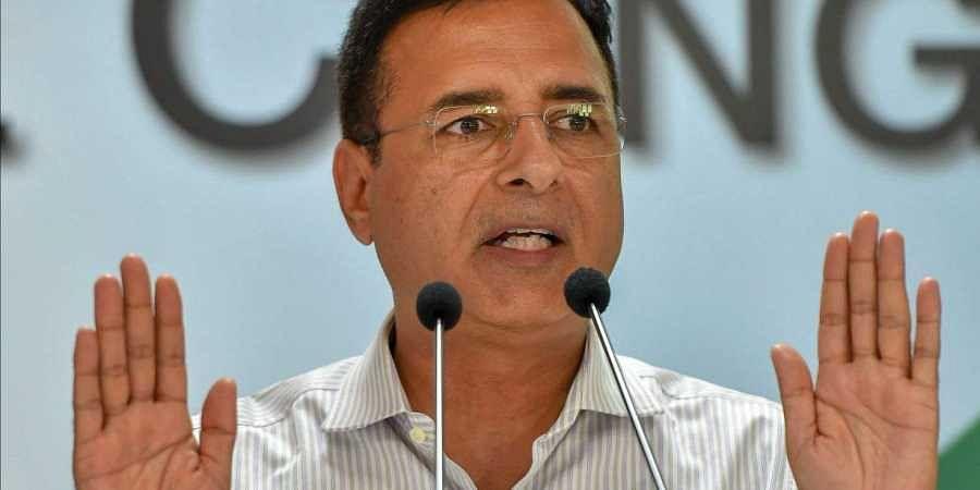 Congress' chief spokesperson Randeep Surjewala