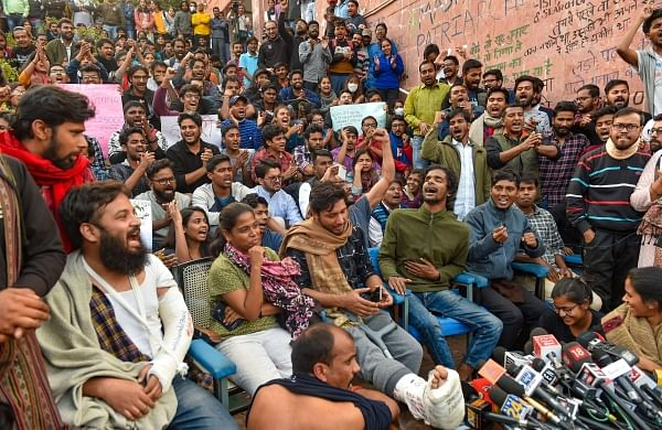 JNU students demand no administrative or legal action be taken against protesters