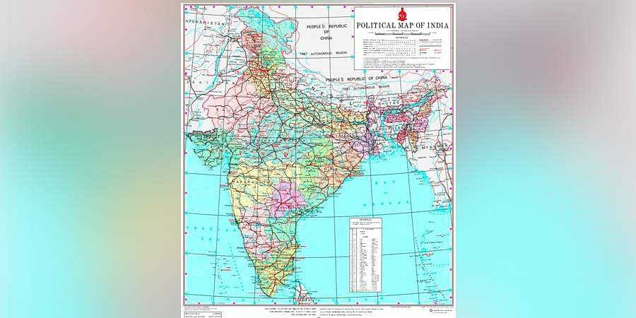 Union Minister of State Jitendra Singh on Saturday tweeted the new political map of India showing 28 states and nine Union territories.