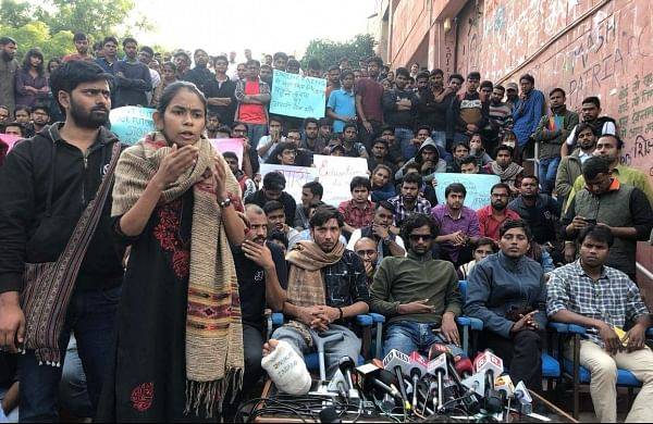 JNU protest: Scuffle with media disrupts press meeting
