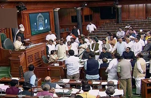 This is a big scam' Opposition protests in Lok Sabha over disinvestment of PSUs, electoral bond