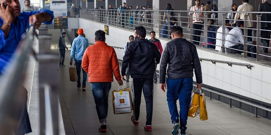 Indian nationals who entered either violated visa norms or illegally entered the United States arrive at the IGI Airport in New Delhi Wednesday Nov. 20 2019. | (Photo | PTI)