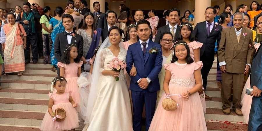 Agatha K Sangma marriage