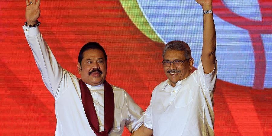 SriLankanPrime Minister Mahinda Rajapaksa with President Gotabhaya Rajapaksa.