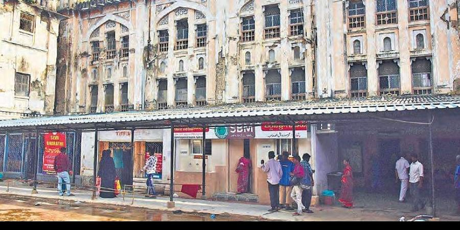 Osmania General Hospital's centuries-old heritage building lies in a dilapidated condition