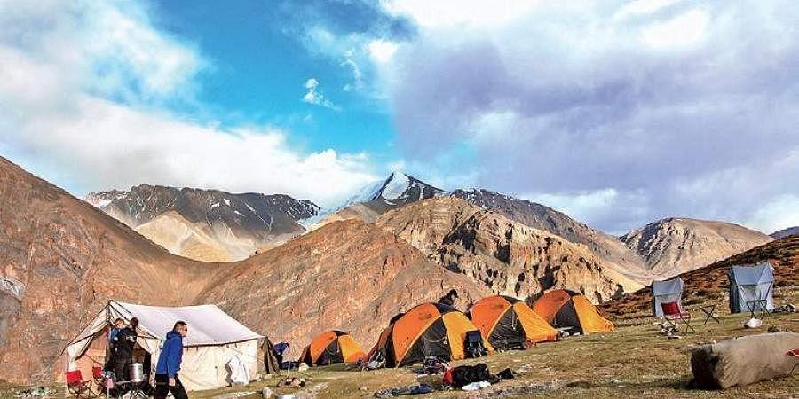 Tents at the Kanyatse Peak