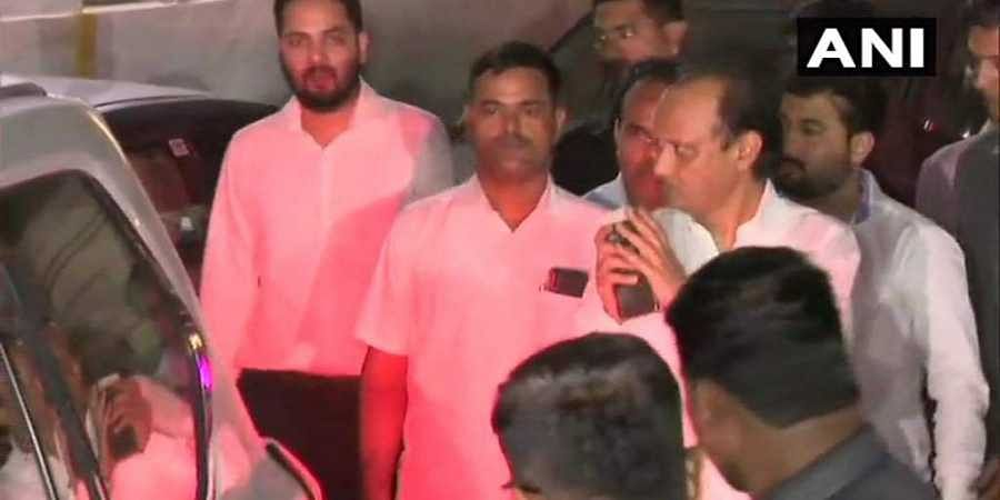 Maharashtra Deputy Chief Minister Ajit Pawar leaves from his residence.