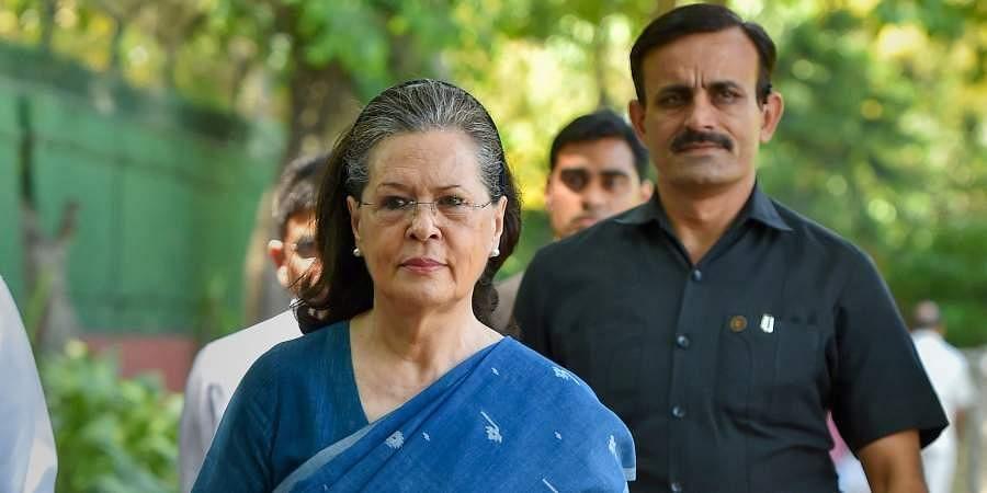 Interim Congress president Sonia Gandhi