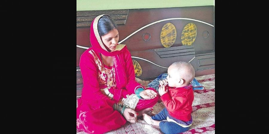 Ritu Kumari with her 8 month old month son