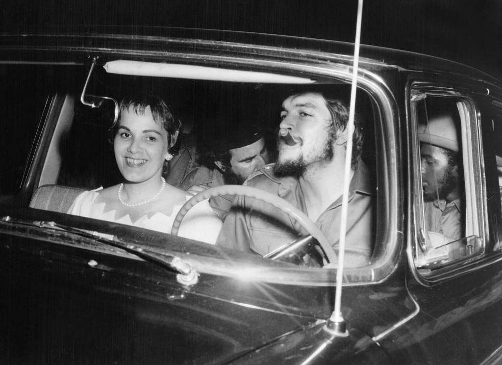 This 02 June 1959 file photo shows Argentine-born Cuban revolutionary Ernesto Che Guevara (R) at the wheel of a US-made car with his second wife Aleida March (L) on their wedding day in Havana a few months after he helped Fidel Castro overthrow the regime of dictator Fulgencio Bartista.