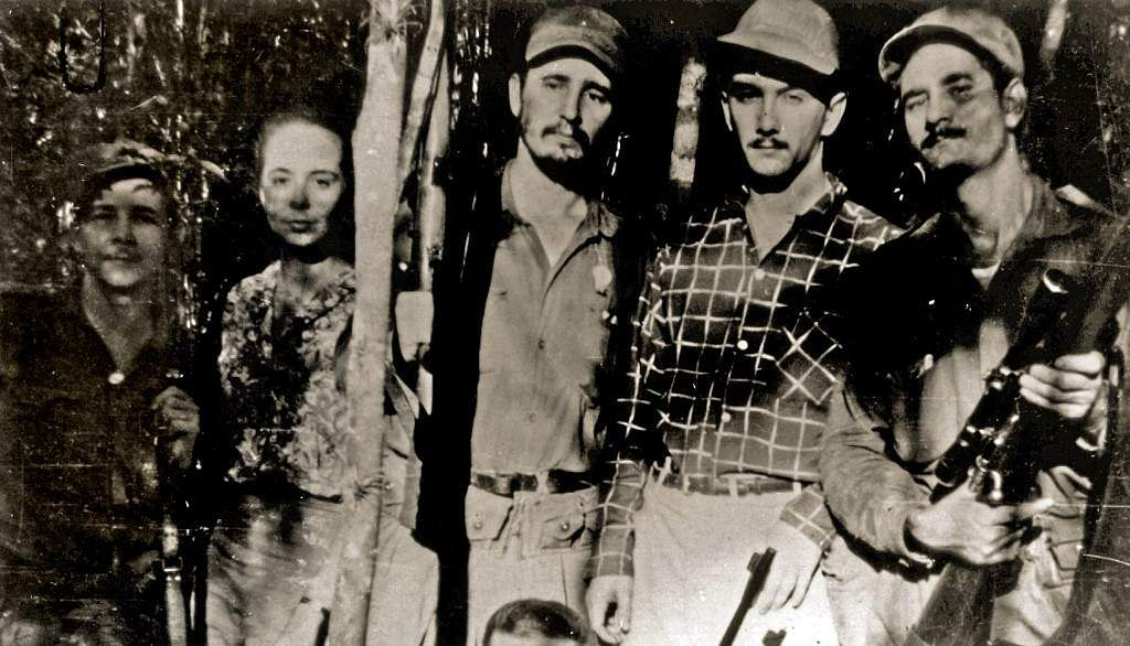 Picture taken in 1958 of Vilma Espin (2-L), then girlfriend and later wife of current Cuban acting President Raul Castro (L), and Fidel Castro, as they posed with other guerrillas in the Sierra Madre, Cuba. Espin died in Havana 18 June 2007 aged 77 after a long illness.