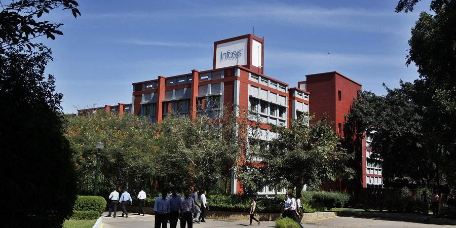 Techies at Infosys campus at Electronic City in Bengaluru (Photo | AP)