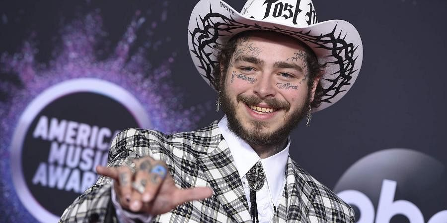 POST MALONE: 24-year-old American rapper Post Malone got seven nominations making him the most nominated artist this year, won favourite rap/hip-hop album for Hollywood's Bleeding.