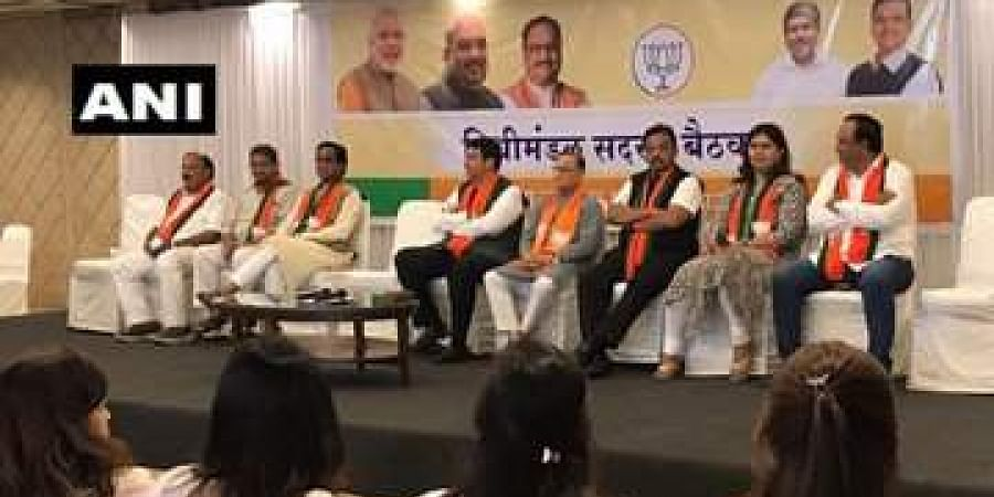 Meeting of BJP MLAs underway at the party's office.