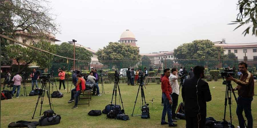 A view of supreme court on the day of Maharashtra verdict in New Delhi on Tuesday. (Photo | Arun Kumar/EPS)