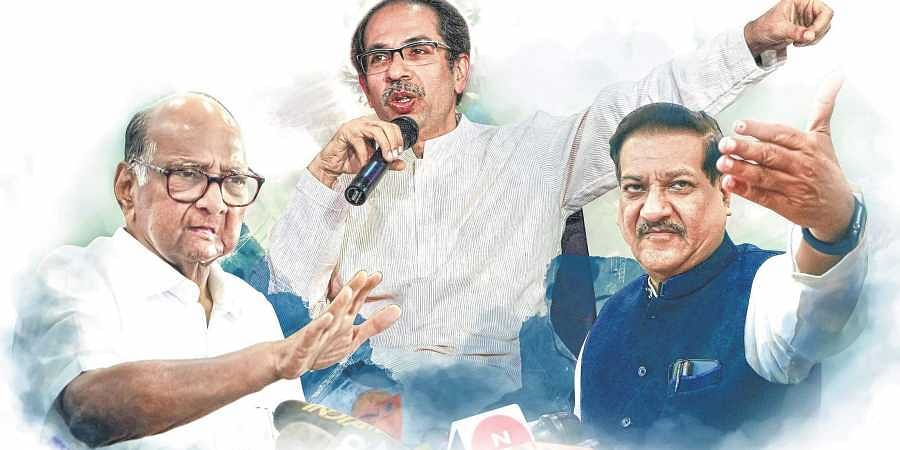 Uddhav, Sharad Pawar, Prithviraj Chavan