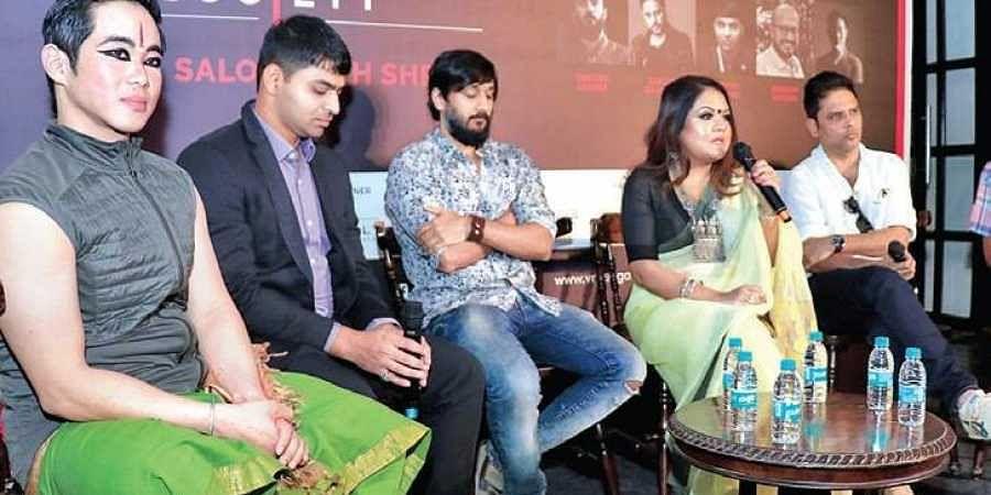 (From left) Charles Ma, Aditya Tiwari, Chetan Ahimsa,  Sreemoyee Piu Kundu, Sanjay Rajoura
