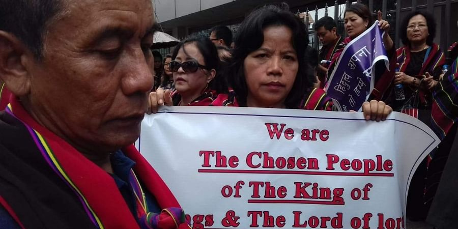 Citizens in Mizoram protest against the Citizenship Bill, 2019 amid Shah's visit
