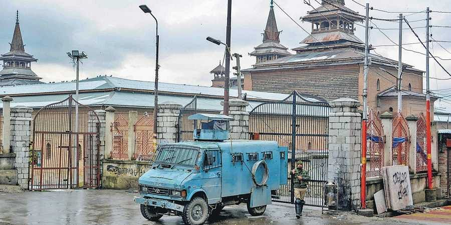 The mosque in Nowhatta area in downtown Srinagar has been closed for prayers for nearly four months.