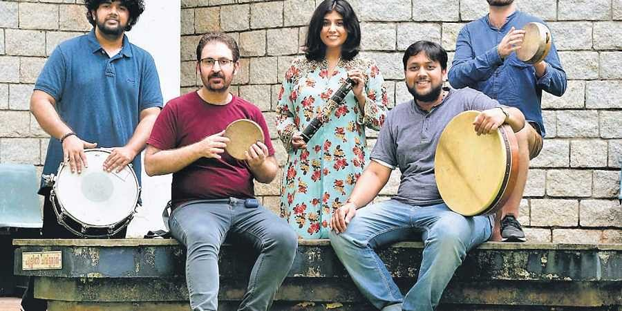 (From left) Sunaad Anoor, |albin mathewHami Keivan, Apoorva Krishna, Vinod Shyam (sitting) and Jerzy Maczynski