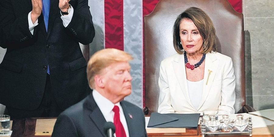 Trump and Speaker of the United States House of Representatives Nancy Pelosi