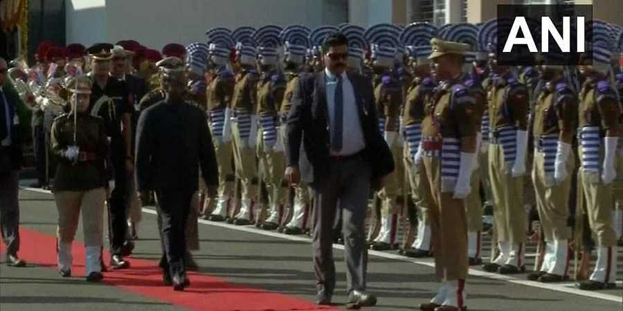 Lieutenant Governor of J&K, Girish Chandra Murmu  receives guard of honour at the secretariat, following which the state capital will be moved from Srinagar to Jammu in the 'Darbar Move.'