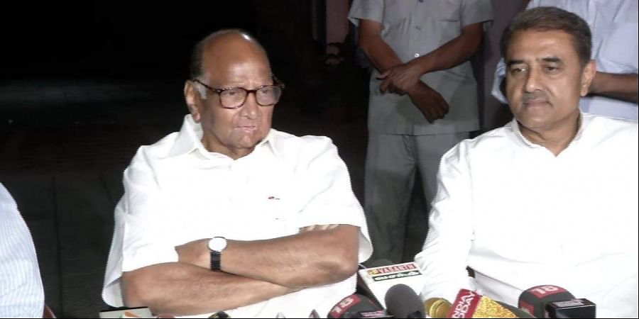 NCP chief Sharad Pawar at his press conference in New Delhi today.