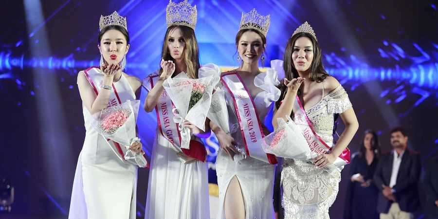 Miss Asia Global title winners pose for the audience