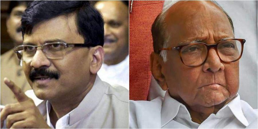 Shiv Sena MP Sanjay Raut (L) and NCP chief Sharad Pawar. | (File | PTI)