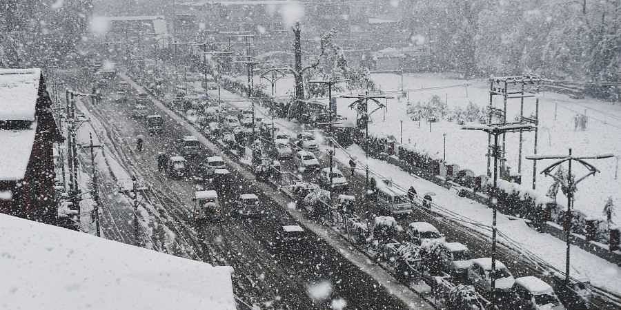 Snowfall, Kashmir