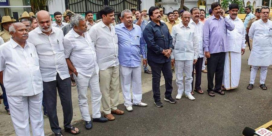 The rebel MLAs of Karnataka who brought down the Kumaraswamy government.   (File PTI)