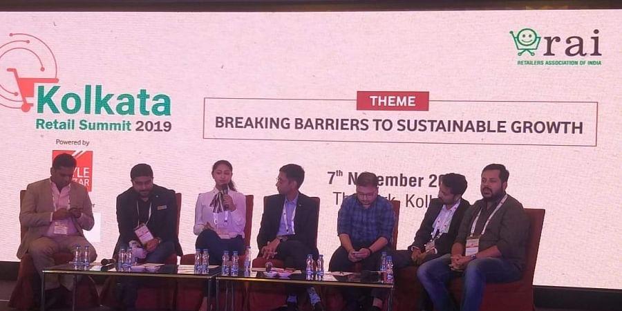 A panel discussion at the Kolkata Retail Summit 2019. (Photo | Twitter/@rai_india)