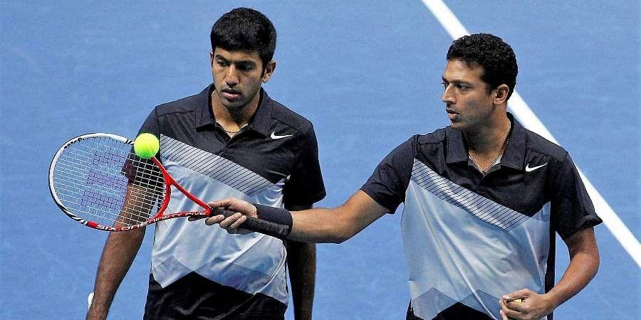 Indian tennis stars Mahesh Bhupathi and Rohan Bopanna